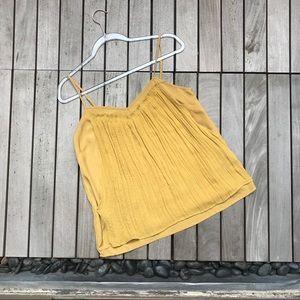 SILENCE + NOISE Mustard Yellow Sleeveless Tank Top